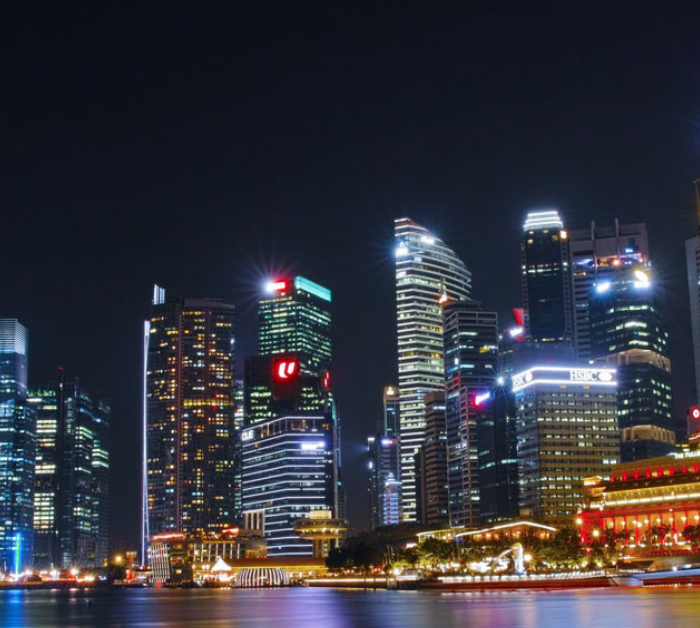 Image of Singapore at night