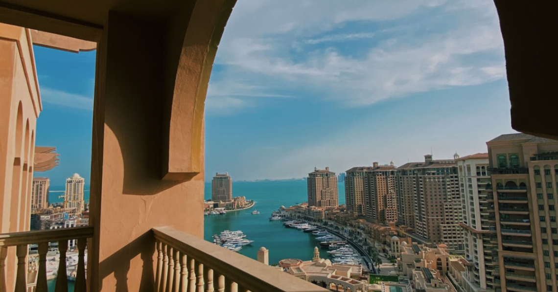 Photo of the view of the Persian Gulf in Doha