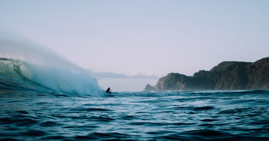 An image of someone surfing