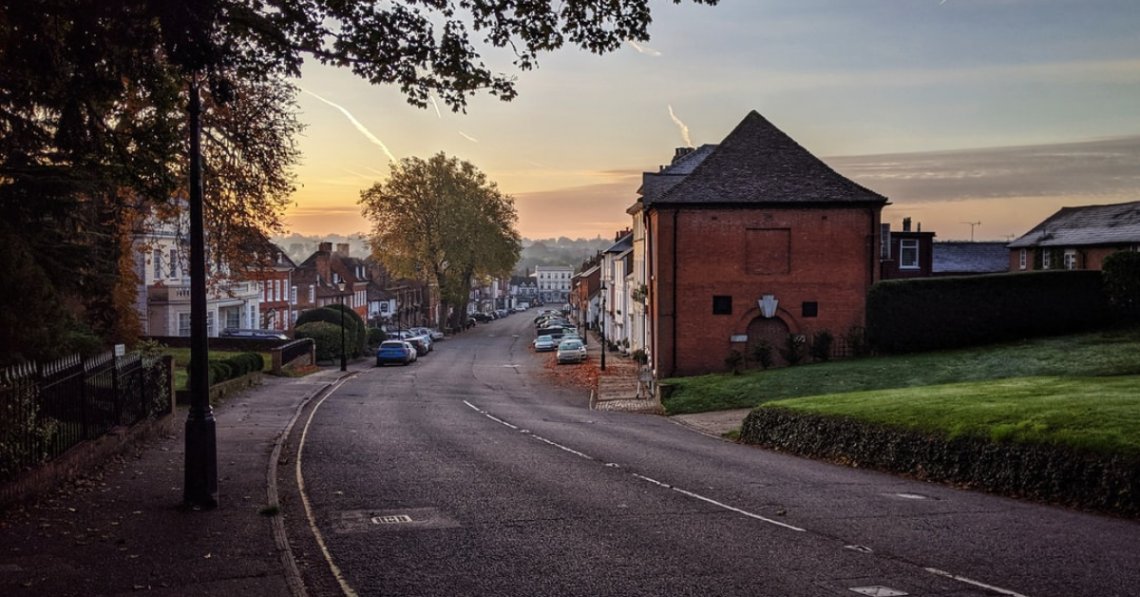 A quiet street in Farnham